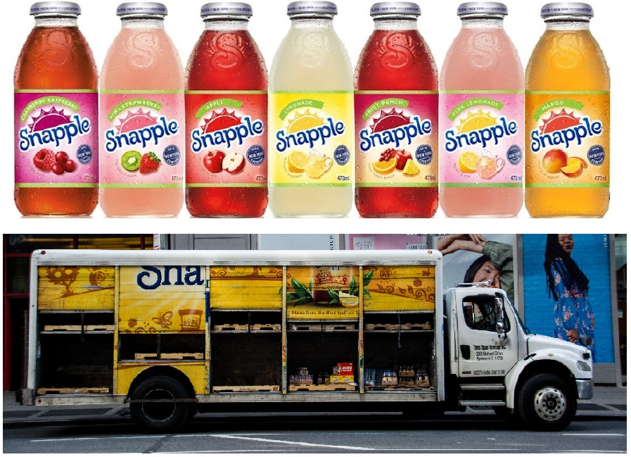 Snapple Drinks and Truck